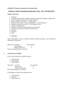 Zápisnica z valného zhromaždenia konaného dňa 12. júna 2011 a