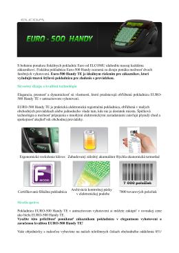 S bohatou ponukou fiskálnych pokladníc Euro od ELCOMU - E-shop