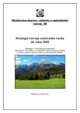 Stratégia rozvoja CR do roku 2020 - Ministerstvo dopravy, výstavby