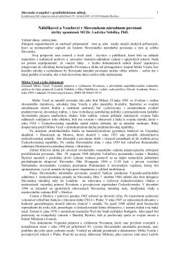 útržky spomienok MUDr. Ludvika Nábělka, PhD.