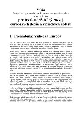 Vízia pre trvaloudržateľný rozvoj európskych dedín a vidieckych