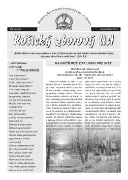 zborový list 4/2010 - Slovenský Reformovaný Kresťanský Zbor v