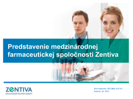 Brožúra v pdf - Zentiva a. s.