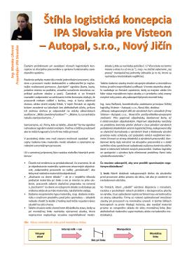 Štíhla logistická koncepcia IPA Slovakia pre Visteon – Autopal, s.r.o.