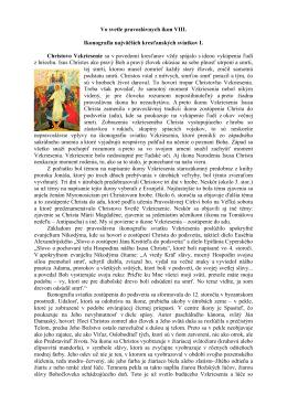 Vo svetle pravoslávnych ikon VIII.