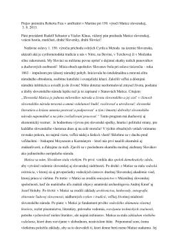 Prejav premiéra Roberta Fica v amfiteátri v Martine pri 150. výročí