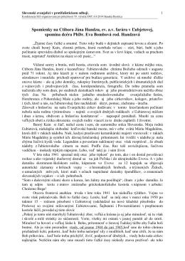Ctibor Ján Handzo, ev. a.v. farár v Ľubjetovej v spomienkách dcéry