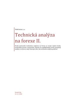 Technická analýza na forexe II.
