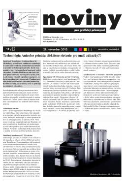 Technológia Anicolor prináša efektívne riešenie pre malé zákazky?!