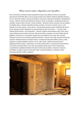 Ukážka z workshopu - zdigitalizované Sgraffito.