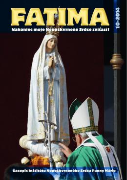 časopis FATIMA 2014 - Inštitút Nepoškvrneného Srdca Panny Márie