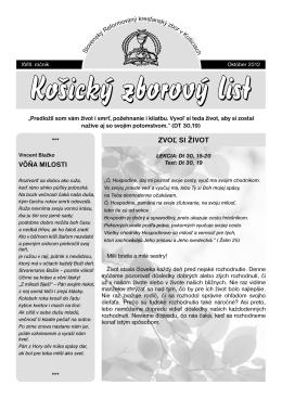 zborový list 3/2012 - Slovenský Reformovaný Kresťanský Zbor v