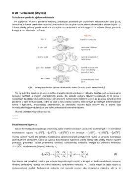 D20. Turbulencia. Turbulentné prúdenie a jeho modelovanie. RANS