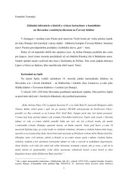 Základné informácie o histórii a výskyte kartuziánov a kamaldulov