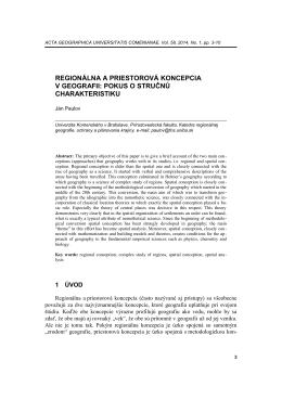 stiahnuť príspevok - Acta Geographica Universitatis Comenianae
