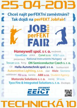 Chceš najít perFEKTní zaměstnání? Tak dojdi na perFEKT JobFair!