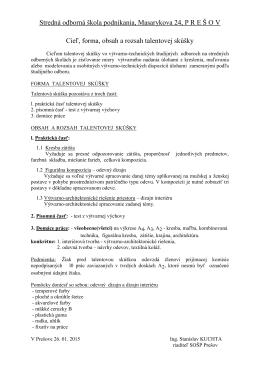 Stredná odborná škola podnikania, Masarykova 24, PRE Š OV Cieľ