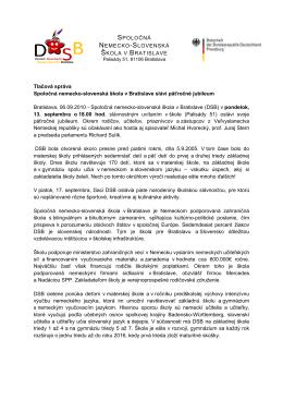 Tlačová správa [pdf, 40.44k] - Veľvyslanectvo Spolkovej republiky