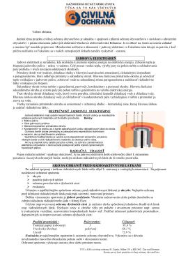 jadrová elektráreň ako sa chrániť pred rádioaktívnymi látkami