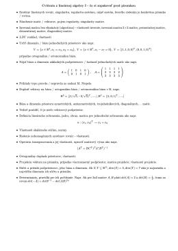 Cvičenia z lineárnej algebry I - čo si zopakovať pred písomkou