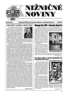 pdf verzia KN2014-3 - Štátna vedecká knižnica v Banskej Bystrici