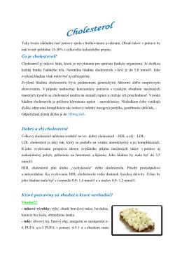 Čo je cholesterol? Dobrý a zlý cholesterol Ktoré potraviny sú vhodné