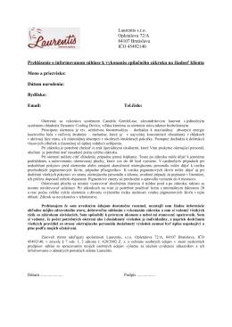 Laurentis s.r.o. Opletalova 72/A 84107 Bratislava IČO 45492140