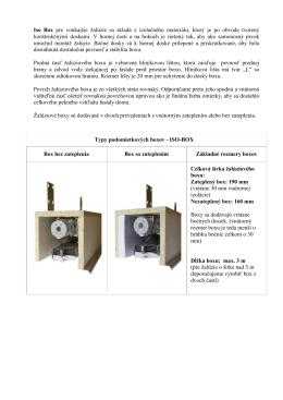 Iso Box pre vonkajšie žalúzie sa skladá z izolačného materiálu, ktorý