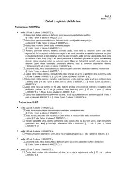 Žiadosť o registráciu platiteľa dane (elektrina, uhlie, zemný plyn, CNG)