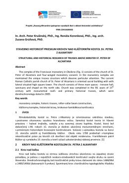 In. Arch. Peter Krušinský, PhD., Ing. Renáta Korenková, PhD., Ing