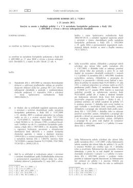 Nariadenie Komisie (EÚ) č. 73/2013 z 25. januára 2013, ktorým sa