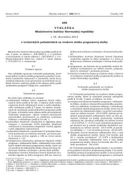 vyhláška Ministerstva kultúry SR č. 468/2013 Z. z.