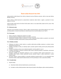 Štatút súťaže - Výskumné centrum Žilinskej univerzity v Žiline