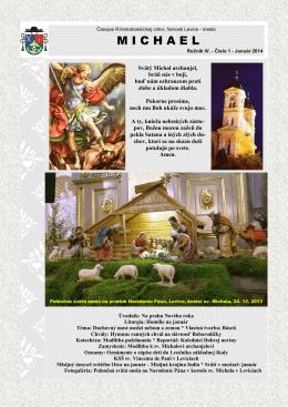 Michael - január 2014 - Rímskokatolícka cirkev Farnosť Levice mesto