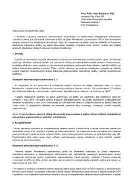 Prof. PhDr. Iveta Radičová, PhD. predsedníčka Vlády SR Úrad vlády