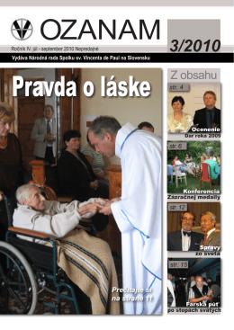 OZANAM 2010-3.indd - Spolok sv. Vincenta de Paul na Slovensku