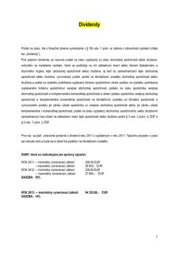 Dividendy a zdravotné poistenie.PDF