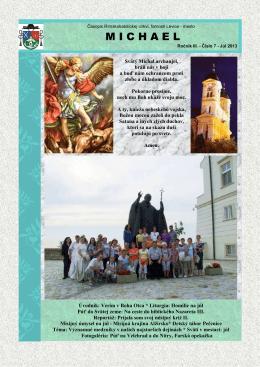 Michael - júl 2013 - Rímskokatolícka cirkev Farnosť Levice mesto