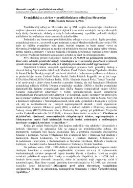 Evanjelická a.v. cirkev v protifašistickom odboji na Slovensku, PhDr