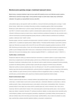 Monitorovanie spotreby energie v kotolniach... Január 15, 2015