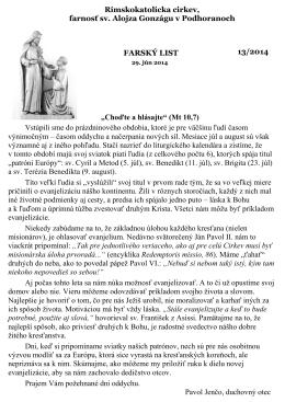 Rímskokatolícka cirkev, farnosť sv. Alojza Gonzágu v Podhoranoch