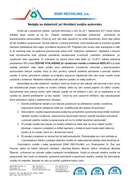 """Članok """"Čestné prehlásenie """" vo verzii pre tlač .pdf"""