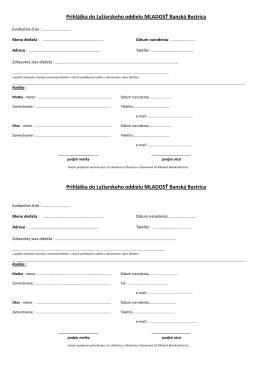 Prihláška na sezónu vo formáte .pdf