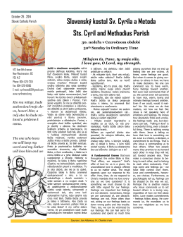 20141026.Oct 26 2014.pdf - Sts. Cyril and Methodius Parish NW