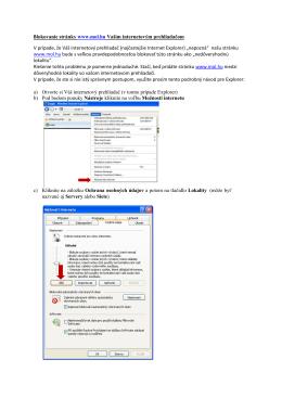 Blokovanie stránky www.mol.hu Vaším internetovým prehliadačom