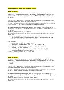 Príklady na dividendy a zdravotné poistenie.PDF