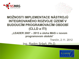 Ing. Radim Sršeň, Ph.D.