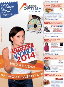 50% 50% 20% 20% - Atrium Optima Košice