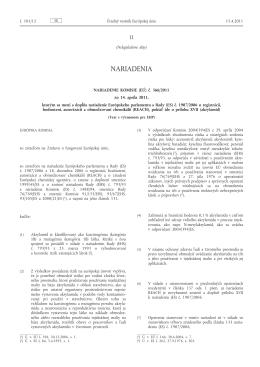 Nariadenie Komisie (EÚ) č. 366/2011 zo 14. apríla 2011, ktorým sa