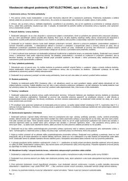 Prejsť na dokument (PDF, 133kB) - CRT Electronic, s.r.o. Or. Lesná
